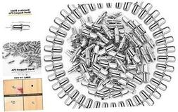 100 Pack Shelf Pins Metal Nickel Support Pegs for Furniture