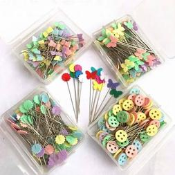100x Flat Head Sewing Pin Straight Embroidery Dressmaking Je