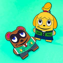 *2 PACK* Animal Crossing Peccy 2 Pin Set