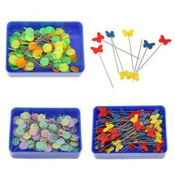 3 Box Straight Flower Head Pins Decorative Pin for Sewing Qu