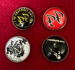 4-Piece Set Foo Fighters Pins Brooches