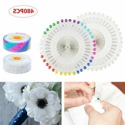 480pcs Straight Pins w/ Pearlized Ball Head for Sewing Quilt