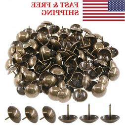 50/100pc Antique Furniture Nails Pin Upholstery Brass Nails