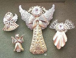ANGEL PINS - LOT OF 4 PINS - Vintage Jewelry