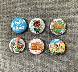 Animal Crossing Pins Set of 6 cute Buttons New Horizons New