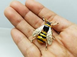 Bumblebee Gold Finished Brooch Pin CC