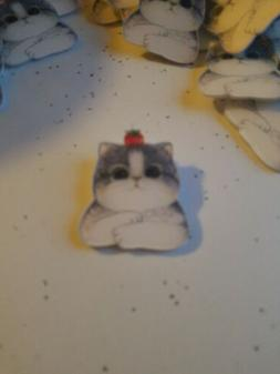 Cat Acrylic Badges For Clothing Backpack Plastic Tiny Cute A