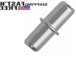 Divided Shelf Pins with Stop, Cabinet &BookShelf Pegs, Metal