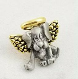 """Dog Puppy Angel Tie Tac Lapel 3/4"""" wide Pin"""