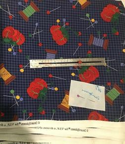 DreamSpinners Needles & Pins Allover Sewing Notions Print Co