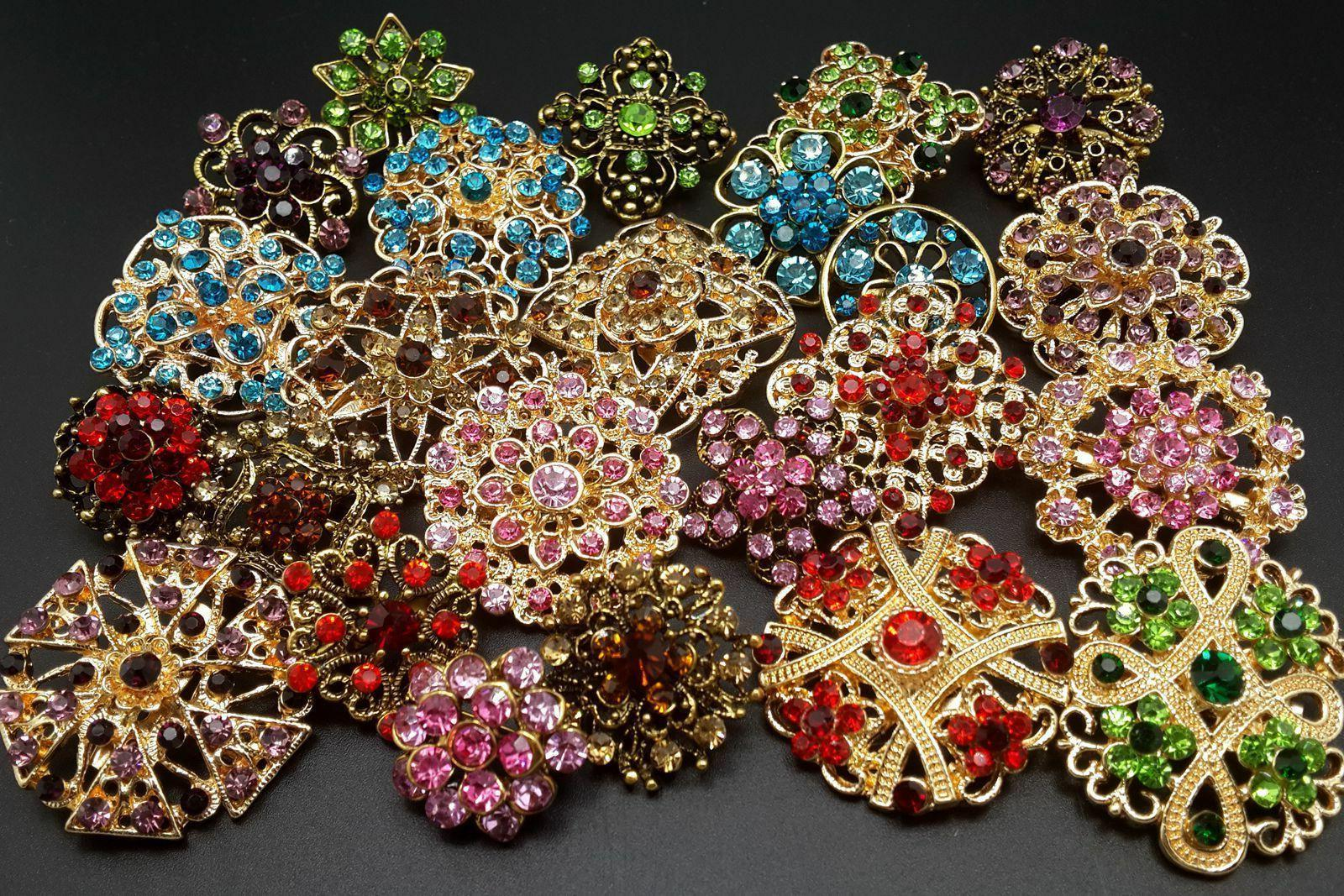 lot 24 pc mixed vintage style golden