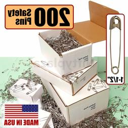 """NiftyPlaza Large Safety Pins - 200 Pack -  Size 1-1/2"""", Made"""