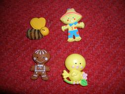 Lot Of 4 AVON Pin Pals Fragrance Glace Canary Bumble Bee Gin