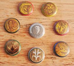 Mighty Morphin Power Rangers PowerCoin Pinback Buttons Pins