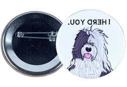 Old English Sheepdog Pinback Button Badge Pin Gifts and Coll