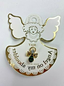 on my shoulder may birthstone lapel pin