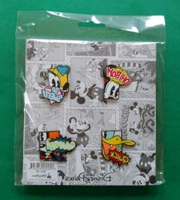 Disney Pin Mickey and Friends Comic Book Booster Set of 4 Tr