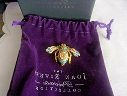 Joan Rivers Private Collection Cloisonné Floral Bee Pin Bro