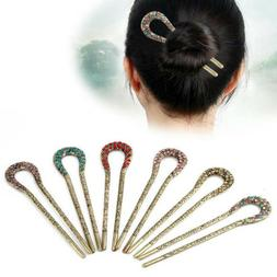 Retro Jewelry Antiques Bronze Plated Hairpins U ShapeHair St