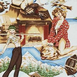 Alexander Henry THE GREAT OUTDOORS Pin-Up Girls Flannel Fabr