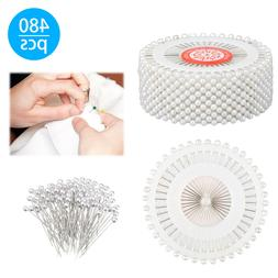 US 480-pieces Straight Pins w/Pearlized Ball Head for Sewing