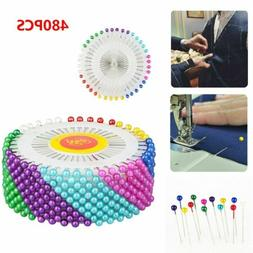 US! 480pcs Straight Pins w/ Pearlized Ball Head for Sewing Q