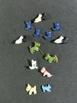 Vintage Acrylic Scottie Dog Pins, Buttons And Charms